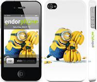 "Чехол на iPhone 4 Миньоны 3 ""297c-15"""
