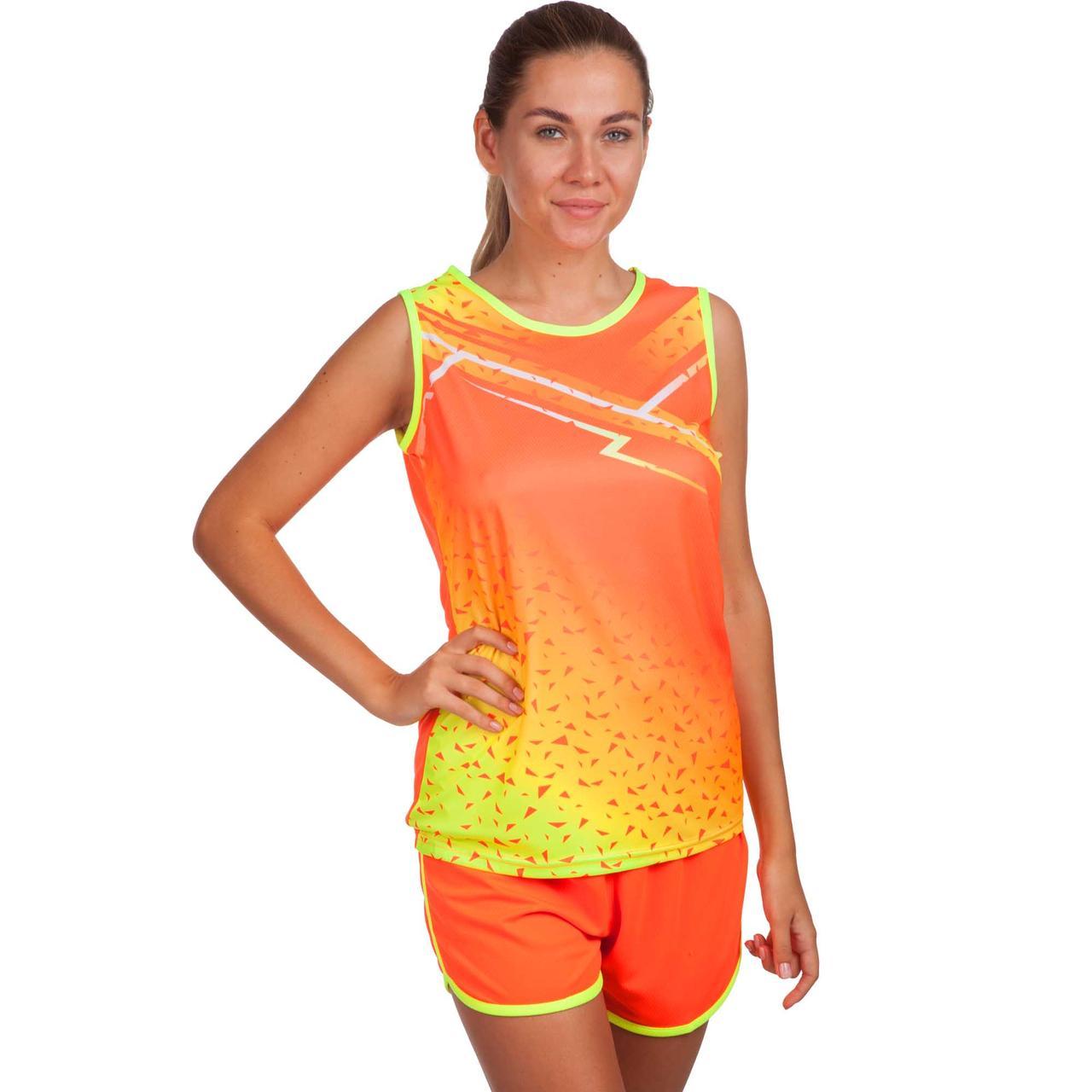 Форма для легкой атлетики женская (оранжевый-желтый)