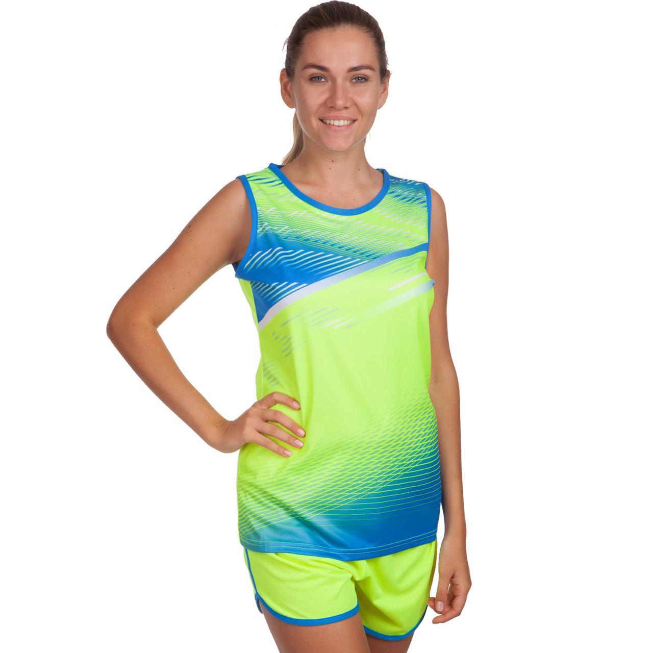 Форма для легкой атлетики женская (лимонный-син.)