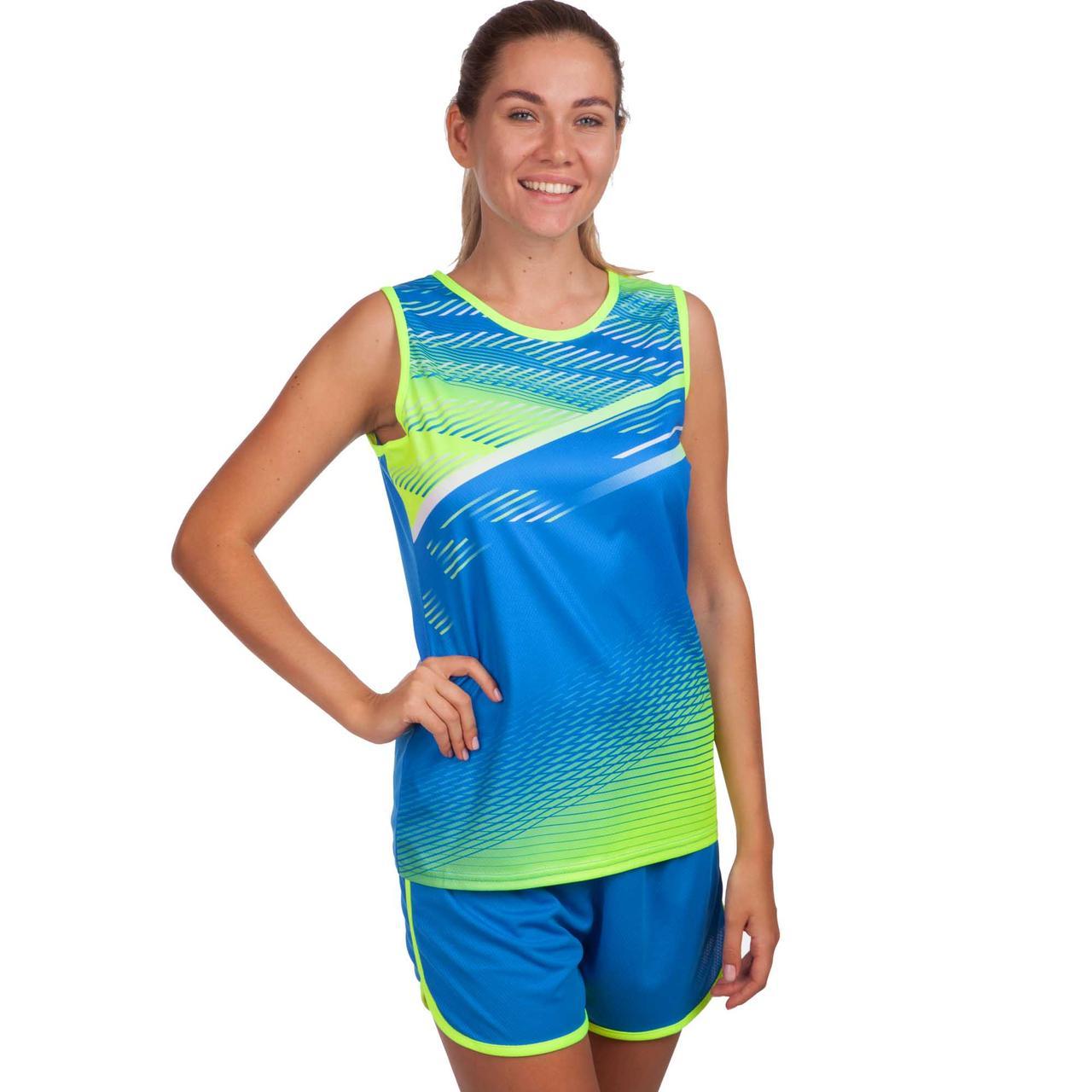 Форма для легкой атлетики женская (синий-салат.)