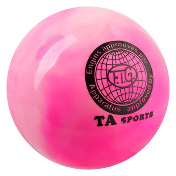 Мяч гимнастический TA SPORT, 400грамм 19 см, мраморный розовый