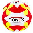 Мяч волейбол Ronex Orignal Grippy Red/Yel/Black, фото 2