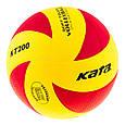 Мяч волейбольный Kata 200 PU red/yellow, фото 2