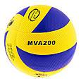 Мяч волейбольный Mikasa MVA200/2018 PVC 004 blue, фото 2