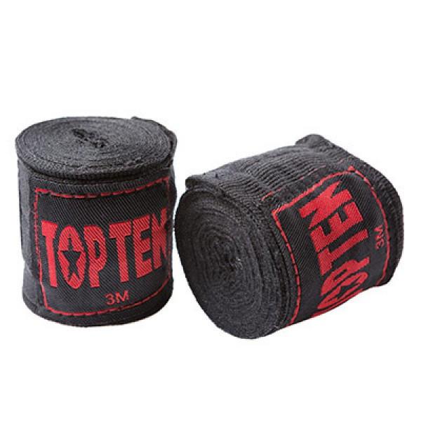 Бинт боксерский 3м, TopTen, пара, синий, красный, черный