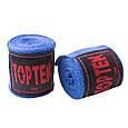 Бинт боксерский 3м, TopTen, пара, синий, красный, черный, фото 3