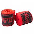 Бинт боксерский 3м, TopTen, пара, синий, красный, черный, фото 6