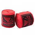 Бинт боксерский 4м, BadBoy, пара, синий, красный, черный, фото 6
