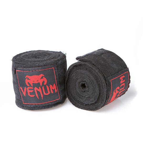 Бинт боксерский 3м, Venum, пара, синий, черный