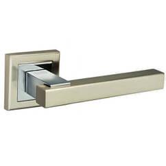 """Ручки дверные MVM  Z-1290 SN/CP """"Loft"""" матовый никель/хром"""