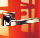 """Ручки дверные MVM  Z-1290 SN/CP """"Loft"""" матовый никель/хром , фото 5"""