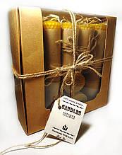 Набір свічок з бджолиного воску 7 штук