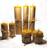 Набор свечей из пчелиного воска 7 штук, фото 2