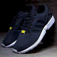 Кроссовки мужские Adidas ZX Flux, кроссовки адидас флакс для бега черные (Оригинал)