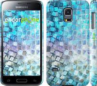 """Чехол на Samsung Galaxy S5 mini G800H Переливающаяся чешуя """"227c-44"""""""