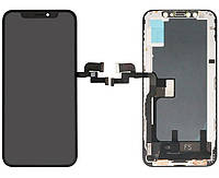 Дисплей (экран) для телефона Apple iPhone XS + Touchscreen (переклеено стекло, original) Black