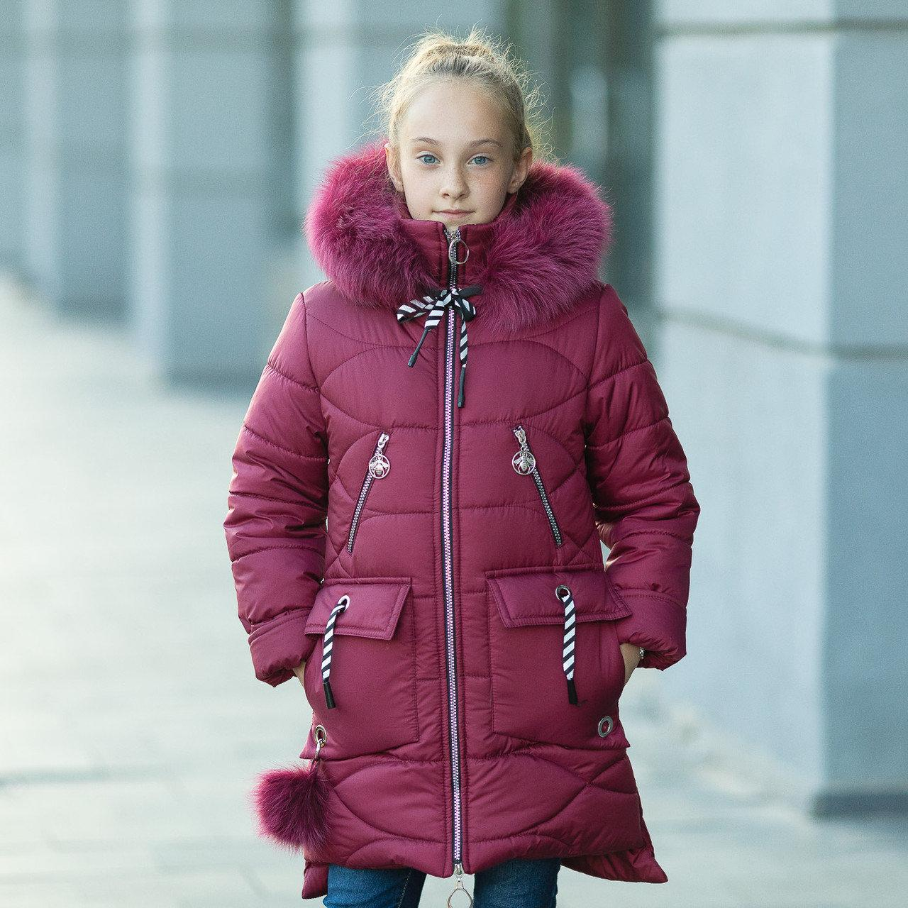 """Практичная водонепроницаемая зимняя куртка для девочки """"Долли"""""""