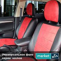 Чехлы на сиденья Suzuki Swift из Экокожи и Алькантары (Союз АВТО), полный комплект (5 мест)