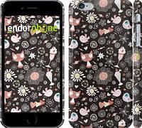 """Чехол на iPhone 6 Plus Котята и птички """"1222c-48"""""""