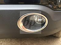 Хром накладки на передние противотуманные фары Nissan qashqai (ниссан кашкай) 2007-2010