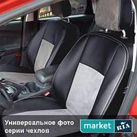 Чехлы на сиденья Hyundai Tucson из Экокожи и Алькантары (Союз АВТО), полный комплект (5 мест)