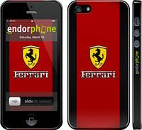 """Чехол на iPhone 5 Ferrari """"1202c-18"""""""