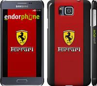 "Чехол на Samsung Galaxy Alpha G850F Ferrari ""1202c-65"""
