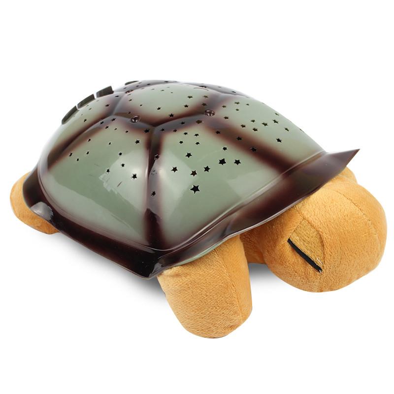 Музыкальный ночник проектор Черепаха желтая 141216