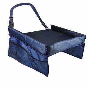 Столик детский для автокресла в авто Play n Snack Tray синий 130640