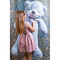 """Плюшевый медведь """"Нестор"""" Серый 160 см"""