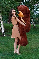 """Плюшевый медведь """"Нестор"""" Шоколадный 200 см"""