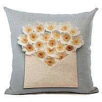 Наволочка на декоративную подушку (диванная подушка 45см х 45см + 50 грн) 115107п