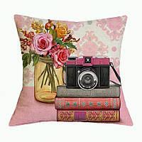Наволочка на декоративную подушку (диванная подушка 45см х 45см + 50 грн) 11583п, фото 1