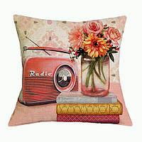 Наволочка на декоративную подушку (диванная подушка 45см х 45см + 50 грн) 11585п