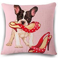 Наволочка на декоративную подушку (диванная подушка 45см х 45см + 50 грн) 11575п, фото 1