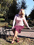 Юбка марсала замшевая трапеция  бордо Ю 010 . теплая осень-зима, фото 3