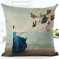Наволочка на декоративную подушку (диванная подушка 45см х 45см + 50 грн) 11564п