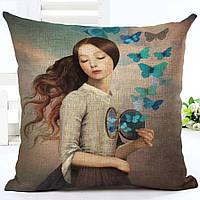 Наволочка на декоративную подушку (диванная подушка 45см х 45см + 50 грн) 11565п
