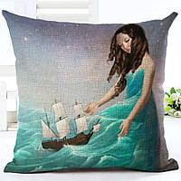Наволочка на декоративную подушку (диванная подушка 45см х 45см + 50 грн) 11566п