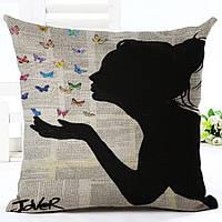 Наволочка на декоративную подушку (диванная подушка 45см х 45см + 50 грн) 11587п