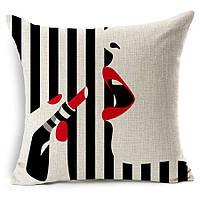 Наволочка на декоративную подушку (диванная подушка 45см х 45см + 50 грн) 11545п