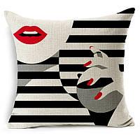 Наволочка на декоративную подушку (диванная подушка 45см х 45см + 50 грн) 11556п