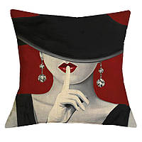 Наволочка на декоративную подушку (диванная подушка 45см х 45см + 50 грн) 11570п