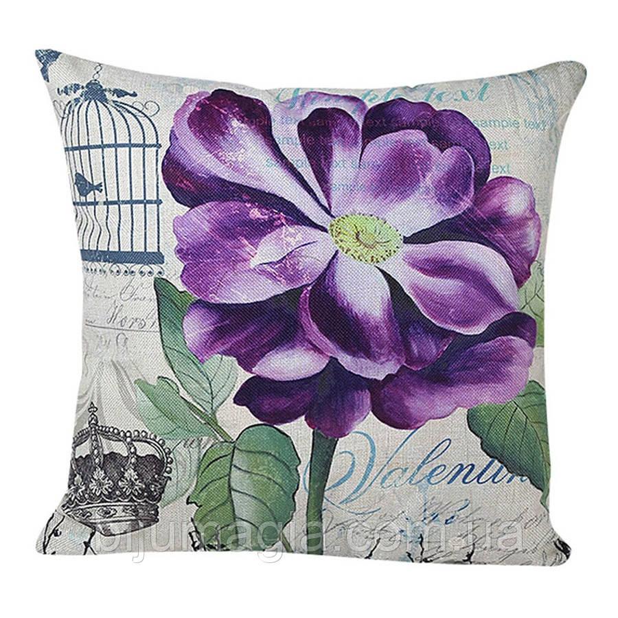 Наволочка на декоративную подушку (диванная подушка 45см х 45см + 50 грн) 11507п
