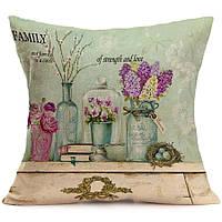 Наволочка на декоративную подушку (диванная подушка 45см х 45см + 50 грн) 11593п