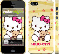 """Чехол на iPhone 5 Hello kitty. Yellow """"681c-18"""""""