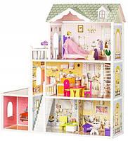Игровой деревянный кукольный домик с гаражом  EcoToys Beverly Hills, фото 1