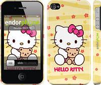 """Чехол на iPhone 4 Hello kitty. Yellow """"681c-15"""""""