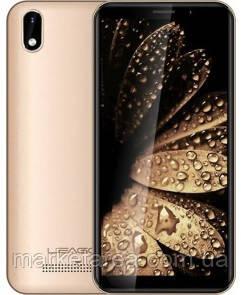 Смартфон бюджетный, золотистый, тонкий безрамочный на 2 сим карты Leagoo Z10 gold