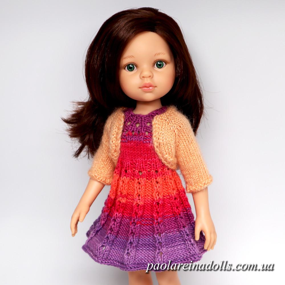 Платье и болеро для кукол Паола Рейна